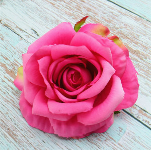 RESUP High Quality Artificial Flowers Heads For Home and Wedding Decoration 0497 4.4'' Diameter Artificial Flower Heads Rose Wholesale China Factory