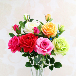 RESUP High Quality Artificial Flowers For Home and Wedding Decoration 0491 25.2'' Tall Fabric Roses Wholesale China Factory