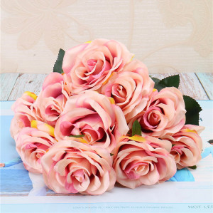 RESUP High Quality Artificial Bouquets For Home and Wedding Decoration 0490 20'' Tall Wedding Bouquet Flowers Wholesale China Factory