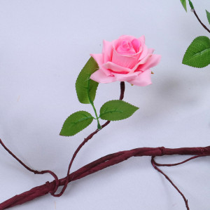 RESUP Artificial Rose Vine For Home and Wedding Decoration 0487 3m Long Silk Rose Vine Wholesale China Factory