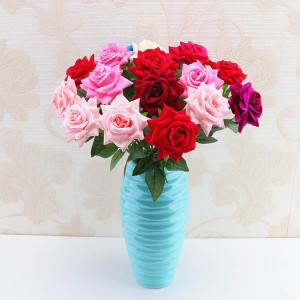 RESUP Artificial Rose Flower For Home and Wedding Decoration 0486 20'' Artificial Roses Bulk Wholesale China Factory