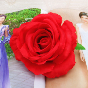 RESUP Artificial Rose Heads For Home and Wedding Decoration 0496 3.6'' Diameter Artificial Roses Wholesale China Factory