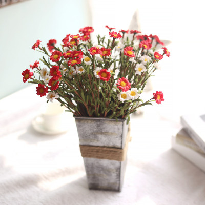 RESUP Artificial Daisy 0516 For Home and Wedding Decoration 14.8'' Tall Daisy Fabric Wholesale China Factory