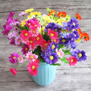 RESUP Artificial Daisy 0506 For Home and Wedding Decoration 12.8'' Tall Faux Daisy Wholesale China Factory