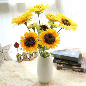 RESUP Decorative Sunflowers 0511 For Home and Wedding Decoration 29.6'' Tall Sunflowers Decorative