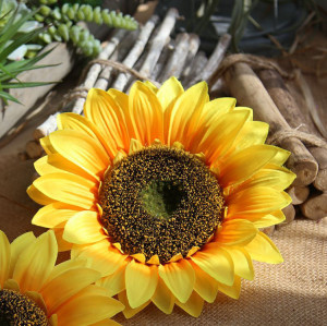 RESUP Artificial Sunflower Head 0514 10.4'' Diameter Artificial Sunflower Heads Wholesale China Factory