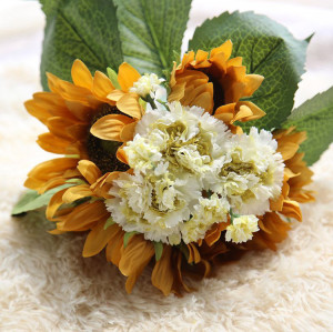 RESUP Artificial Sunflowers 0513 For Home and Wedding Decoration 13.2'' Tall Fabric Sunflowers Wholesale China Factory
