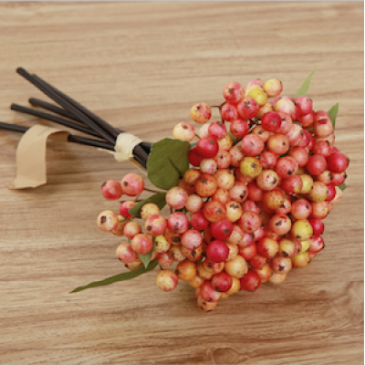 Manufacturer-recommend Artificial Bean & Berry Bouquet Home Decor Christmas Decor Flower Wall