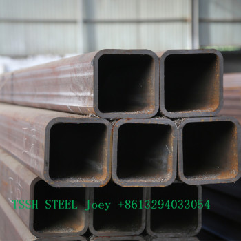 gold supplier Black square welded steel pipe/tube 8/pipa hollow section for building material