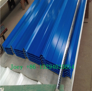 Hot rolled galvanized colored corrugated steel sheet, Color steel roofing sheet
