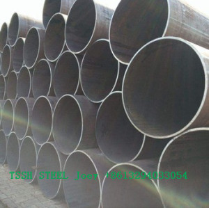building material/hollow steel tube/metal/ERW Q345 Q235B ERW black round steel welded pipe