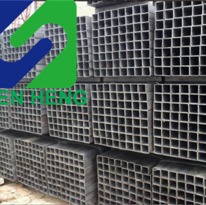 MS ERW black square hollow section steel pipes tubes rhs shs