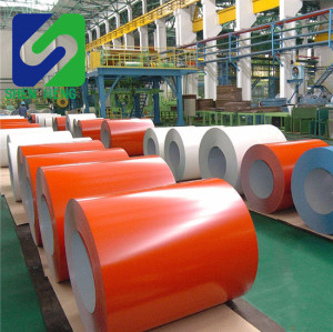 Pre-painted galvanized ppgi coils, color coated ppgi/ppgl steel coil/sheets, ral9002