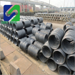 high quality carbon mild black steel wire rod coil.