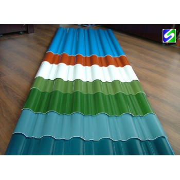 Colored corrugated steel sheet/plate low price factory direct supply