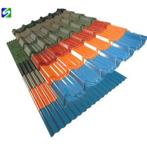 JIS standard prepainted corrugated steel sheet/plate zinc coating 20-70g/m²