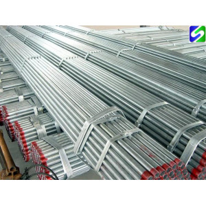 SS400 grade Hot dipped galvanized steel tube/pipe for building material