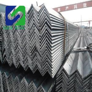 Astm A36 Steel Angle Beam , 6 - 15m Length Custom Ss400 Mild Steel Angle