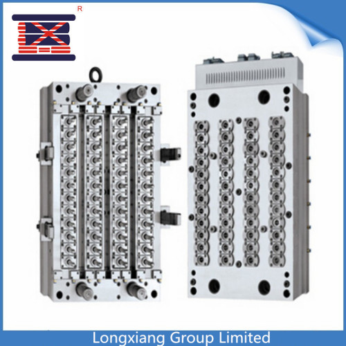 Longxiang 32 cavities injection PET plastic bottle preform/cap mould with hot runner