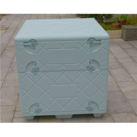 Longxiang moulded polymer insulated container for food transportation cool container box