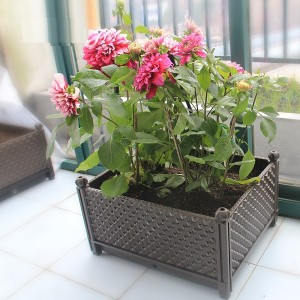 Garden Plastic Flower Raised Grow Bed Vegetable Planter Pots for Deep Root