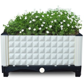 Home & Garden Plastic Raised Grow Bed Outlets Pot for Deep Root Garden Flower Planter
