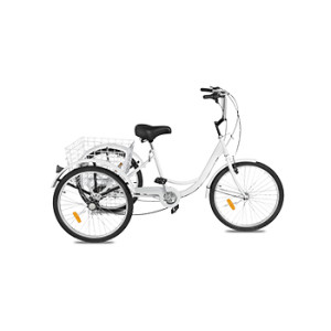 Best sale electric tricycle 3 wheel cargo tricycle adult electric bike for elder with basket
