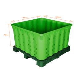 Warehouse Plastic Stackable Storage Bins