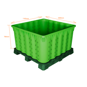 Warehouse Plastic Stackable Storage Bins