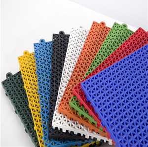 Sports flooring outdoor/indoor school flooring playground interlocking plastic flooring