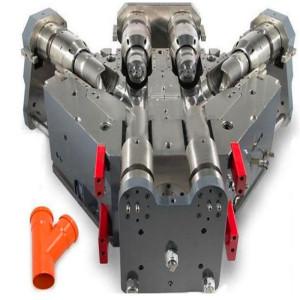 Molde plástico da conexão de tubulação do molde do acoplamento do trabalho feito com ferramentas da junção da tubulação plástica