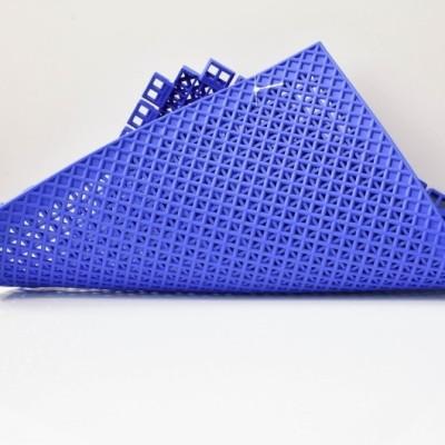 Portable antidérapant nouveau type pp verrouillage des tailles standard en caoutchouc sports de plein air terrain de badminton tapis de sol