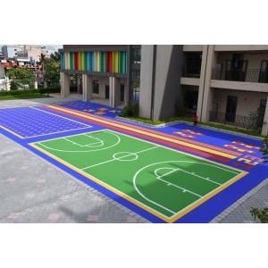 Suelo sintético que entrelaza deportes al aire libre portátil de los deportes de la cancha de básquetbol del piso de los deportes al aire libre de PP