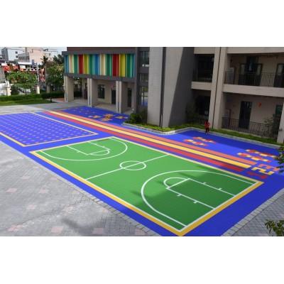 Os esportes portáteis exteriores de bloqueio sintéticos dos PP pavimentam o revestimento de esportes removível do campo de básquete
