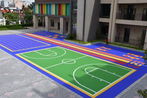 Plancher de sport de terrain de basket-ball amovible extérieur de sport portatif extérieur de verrouillage de pp