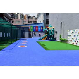 Long life span pp interlocking indoor tennis court carpet floor mat
