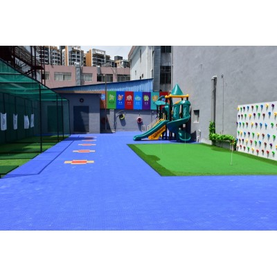 Long life span pp interlocking indoor tennis court carpet floor mat