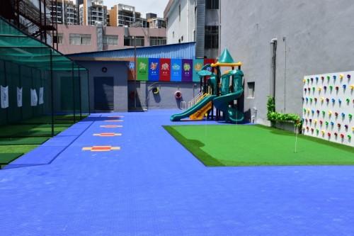 Longue durée de vie pp interverrouillage tapis de sol de court de tennis intérieur