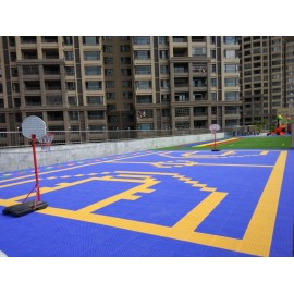 Superior quality indoor interlock plastic basketball court floor,portable indoor basketball court flooring material
