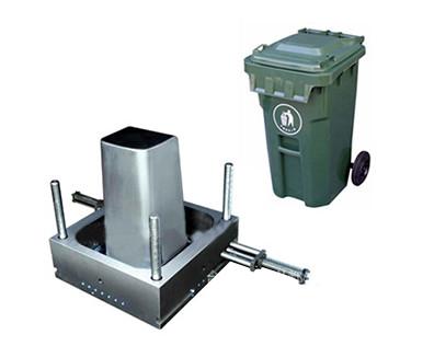 Grande lata de lixo pode moldar caixotes de cinzas