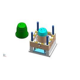 Molde de basura / recipiente de basura de plástico, recipiente de reciclaje / contenedor