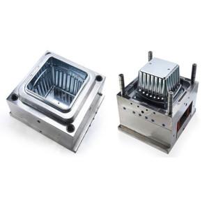 Molde plástico da injeção plástica do contentor superior do molde do recipiente do fabricante da modelagem por injecção