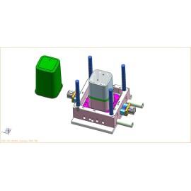 Soem-Plastikabfallbehälter-Form