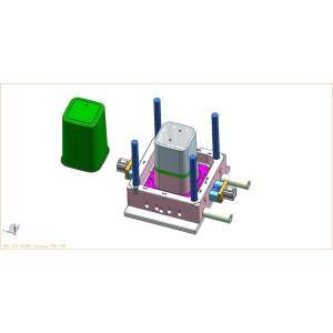 Molde plástico del cubo de basura del OEM