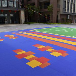 high quality pp interlocking outdoor sports flooring for basketabll volleyball tennis court