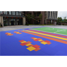 high quality pp interlocking outdoor sports flooring for basketabll volleyball tennis court