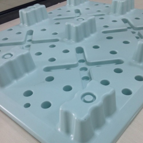 Palette lourde de moulage par injection de palette lourde 4 manières de chargement de palette Collecte palette en plastique de base de liège