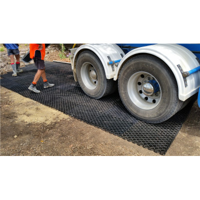 Grades plásticas para o plantio de estradas de estrada lamacenta