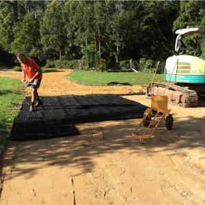 parque de estacionamiento HDPE plástico pavimentado hierba pavimentadora rejillas
