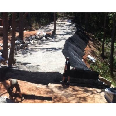 grades de pavimentação de plástico podem caber os cascalhos